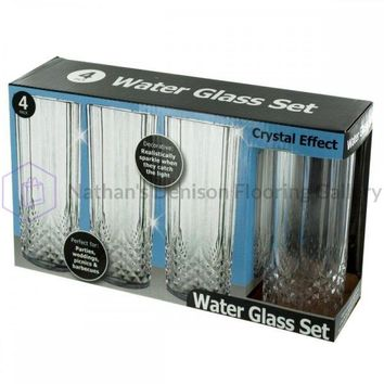 Crystal Effect Plastic Water Glass Set OH018