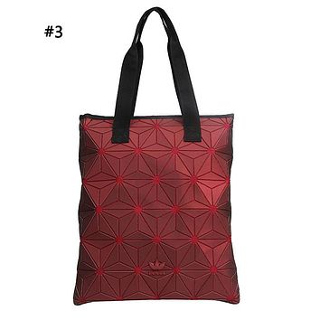 ADIDAS fashion casual gradient stitching tattoo single shoulder bag hot seller lady shopping bag #3