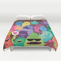 Monsters Duvet Cover by Maria Jose Da Luz