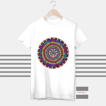 T shirt Mandala spiritual yoga t shirt, Buddha, Om top - Ohm, Aum, T shirt for Men and Women