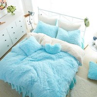 Bedding Set, Gorgeous Fleece Bedding, Thick, Plush, Warm Duvet Set