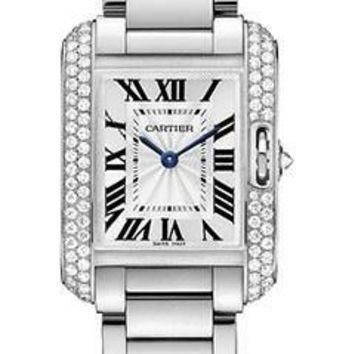 Cartier - Tank Anglaise White Gold With Diamonds
