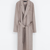 COAT WITH LAPELS AND BELT - Coats - Coats - WOMAN | ZARA United States