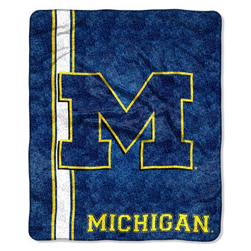 Michigan Wolverines NCAA Sherpa Throw (Jersey Series) (50in x 60in)
