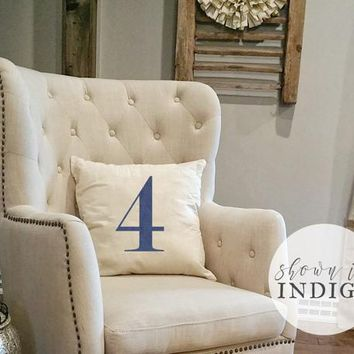 Fixer Upper Style - Modern House Numbers - Family Number - Number Throw Pillow