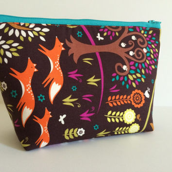 Forest Friends Cosmetic Bag Makeup Bag Gadget Bag
