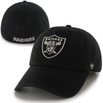 Oakland Raiders '47 Brand Franchise Fitted Hat – Black