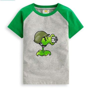 Plants vs. Zombies Cartoon Children T Shirts Boys Kids T-Shirt Designs Teen Clothing For Boys Baby Clothing Girls T-Shirts