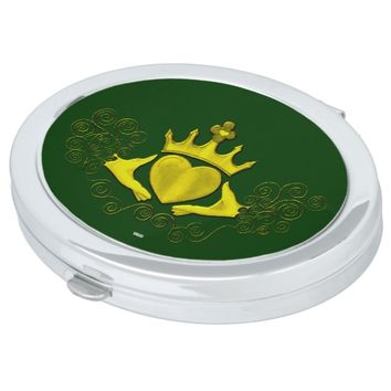 The Claddagh (Gold) Mirror For Makeup