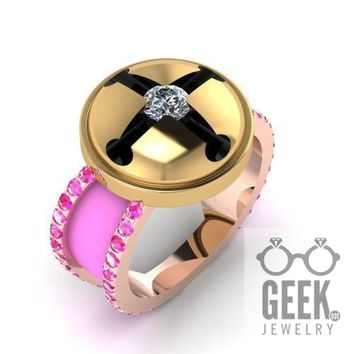 Bee and Puppycat Engagement Ring- Ladies