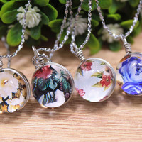 Vintage Style Handmade Floral Necklace Gift 152