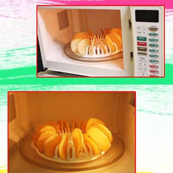 Microwave Oven Fat Free Potato Chips Maker
