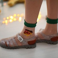 Pizza Crystal Socks