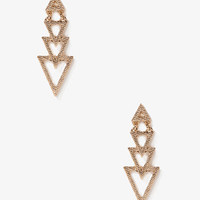 Dotted Triangle Drop Earrings | FOREVER 21 - 1036118282