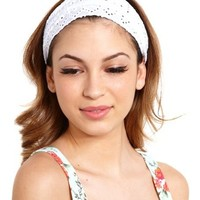 Eyelet Honeycomb Headwrap: Charlotte Russe
