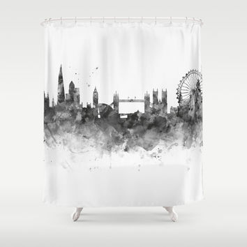 London Skyline Shower Curtain by monnprint