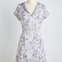 Mid-length Short Sleeves Sheath Mist-ful Thinking Dress