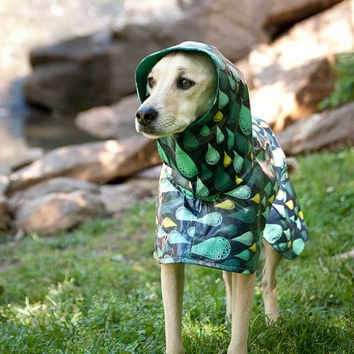 Dog Raincoat Slicker - Rain Drops - Small Breed