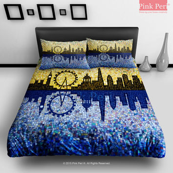 bed a decent cover geekologie bedding art hamburger pop duvet finally