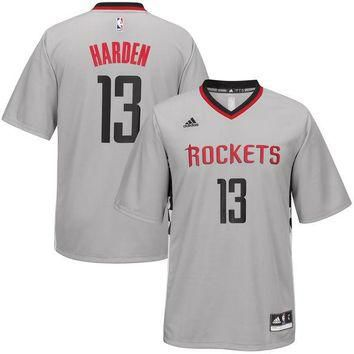 Men's Houston Rockets James Harden adidas Gray Alternate Replica Jersey