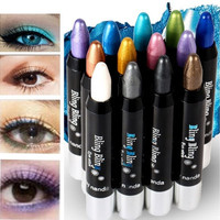 Superdeals Pretty 12 Colors Waterproof Shiny Long Lasting Eyeshadow Eyeliner Pencil [8072707015]