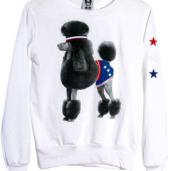 Athletic Retro Poodle Dog Jumper