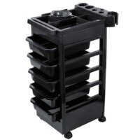 Saloniture Salon Rolling Trolley with Drawers and Mixing Bowl