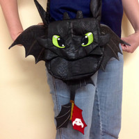 How to Train your Dragon Toothless Night Fury Purse Deluxe
