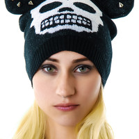 Too Fast Mickey Skull Cap Black One
