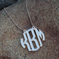 Acrylic Monogrammed Necklace | Marleylilly