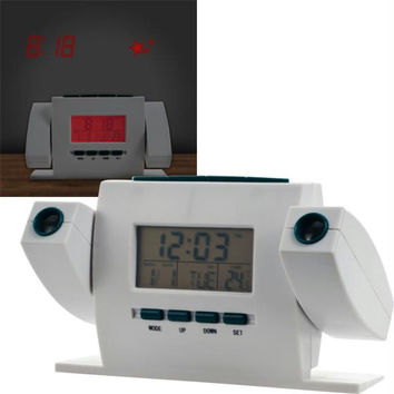 Dual Projection Alarm Clock with FM Radio