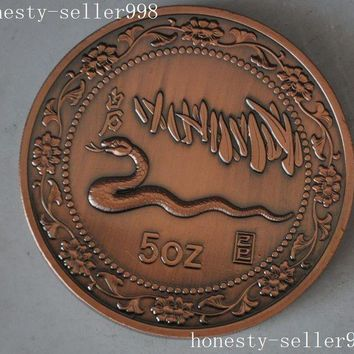 christmas Christmas gift  Chinese collection Rare 1989 zodiac snake animal beast commemorative coins halloween