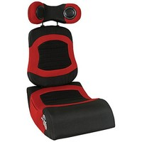 LumiSource BoomChair FRG Wireless Video Game Chair, Red/Black