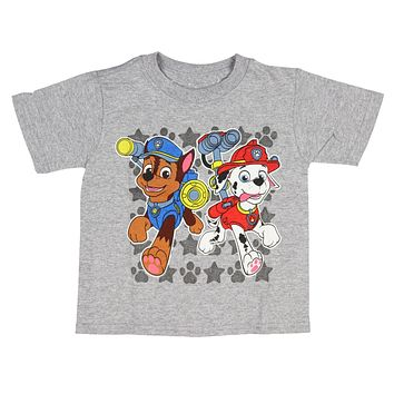 Paw Patrol Toddler Boys' Chase And Marshall T-Shirt