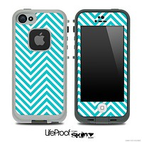 V3 Chevron Pattern White and Blue Skin for the iPhone 5 or 4/4s LifeProof Case
