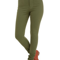 ModCloth Military Skinny Gotta Jet Set Jeans in Moss
