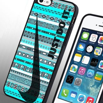 Just Do It Nike Aztec Custom Case for Iphone 4 4s 5 5c 6 6plus (Iphone 6 black)