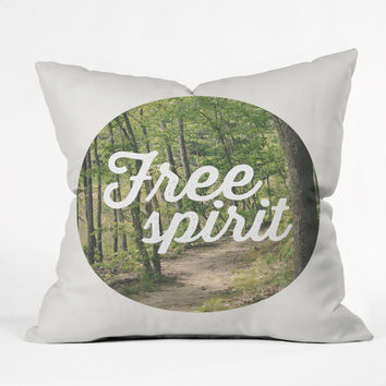 Allyson Johnson Free Spirit Nature Photograph Throw Pillow
