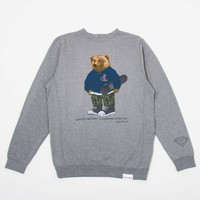 Grizzly Griptape by Diamond Supply Co. Crewneck Sweatshirt in Heather
