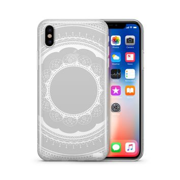 Floral Lace Mandala - Clear TPU Case Cover Phone Case