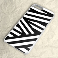 Black White Stripes Line Geometric iPhone 6 Case