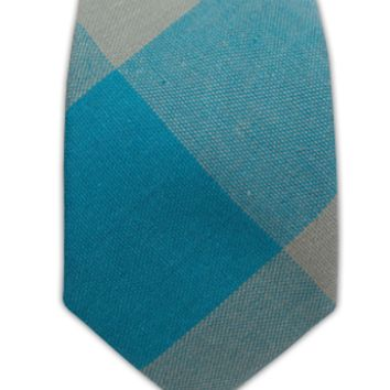 Countryside Plaid - Ocean Blue (Cotton Skinny)   Ties, Bow Ties, and Pocket Squares   The Tie Bar