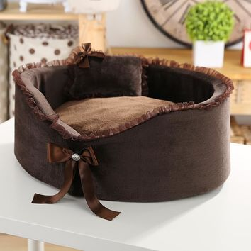 Nice Quality Bed with Bow for Pets