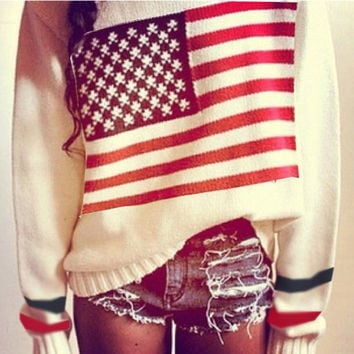 sirenlondon — Americana love sweater