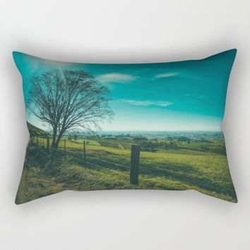 The Walk Home Rectangular Pillow by Mixed Imagery