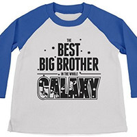Shirts By Sarah Boy's Best Big Brother In Galaxy Cute Space 3/4 Sleeve Raglan Shirt