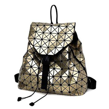 F Women Backpack BaoBao backpack female Fashion Girl Daily backpack Geometry Package Sequins Folding Bags 7 color DF411