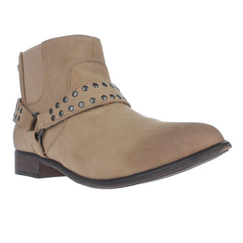 Roxy Weaver Western Harness Strap Ankle Booties, Tan, 10 US