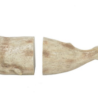 Whale Bookends, Beige, Bookends