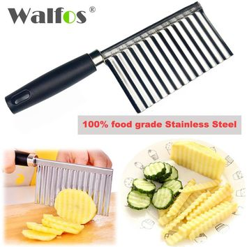 WALFOS Potato Wavy Edged Knife Kitchen Gadget Vegetable Fruit Cutter Cooking Tools kitchen knives Accessories